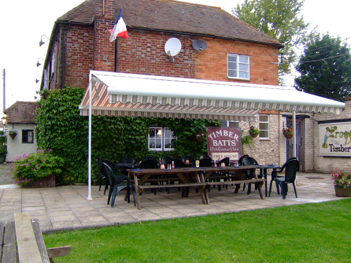pub beer garden awnings